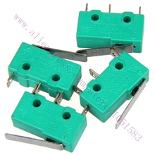 10pc / lot ,KW4-3Z-3 Short Hinge Roller Lever Arm SPDT Momentary Micro  Limit Switch 15A 250V AC For  3D Printer Reprap