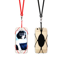 Flexible Silicone Back Strap Band Universal Cell Phone Case Cover Necklace Mobile Lanyard Holder z20