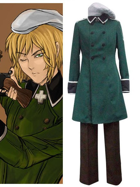 Japanese Anime Outfit Vash Zwingli Cosplay Costume From Axis Powers Hetalia(HETALIA) E001