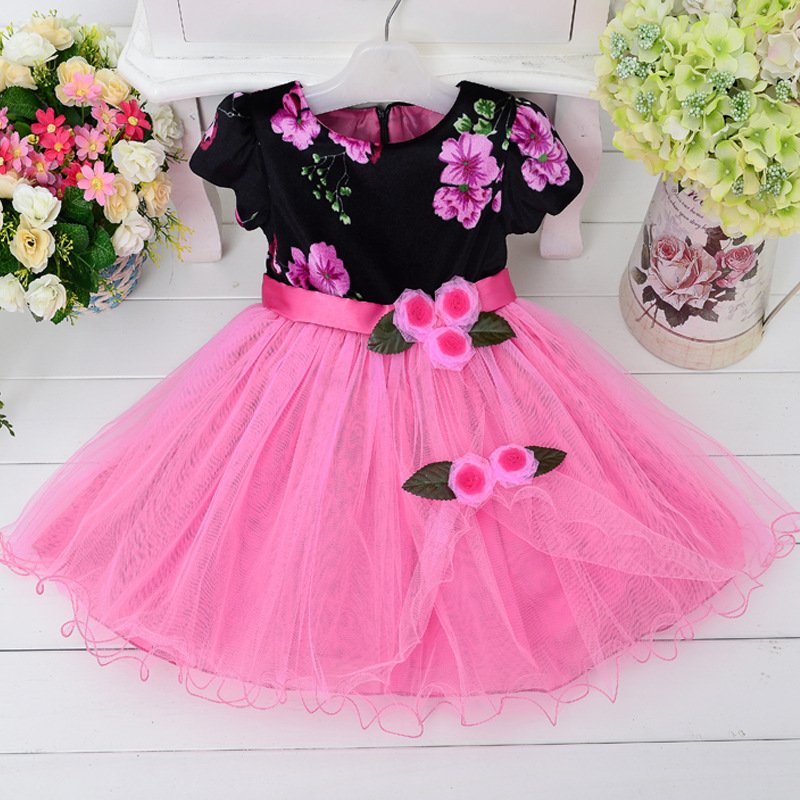 Pink casual dresses for girls