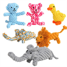 5 Kinds Toys for children Cute Animal Models Cotton Rope Pet Toys Useful Molar Dog Toys Clean Teeth Rope Pet Toys For Teath