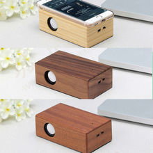 Original wooden Induction Boombox Speaker Speakers for iPhone Mini Portable Wireless Hifi Subwoofer