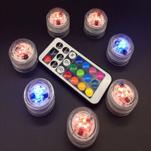 1 pc New Remote Control LED Candle Light Waterproof Change To The Battery Remote Candle Discus Light(China)
