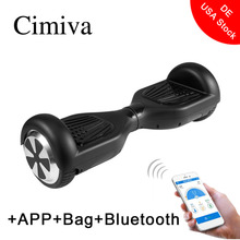 Cimiva 6.5 Inch Two Wheels Smart Scooter Foot Kick Electronic Scooter Skate Board Hoverboard with Bag Support APP Bluetooth(China)