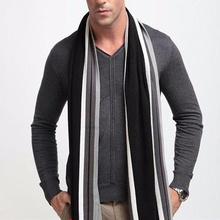 Foulard Fall Fashion Designer Wrap Men's Business Scarf Winter Striped Shawls Hot Sale