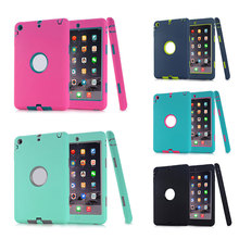 2 in1 Hybrid Protective Heavy Duty Protection Shock-absorption Impact Resistant Case For iPad Mini 1/2/3 Full Protection XXM