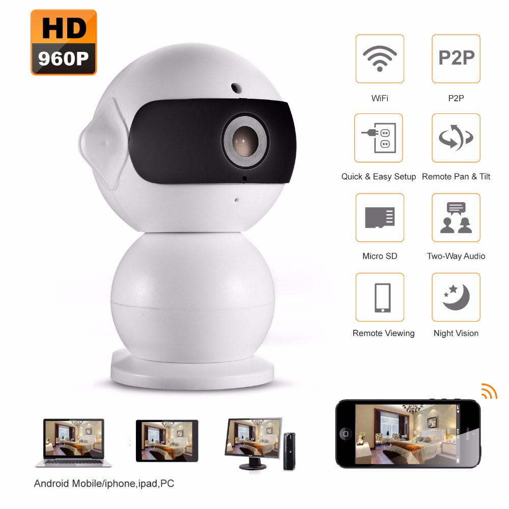Mini HD 960P Wireless IP Camera Wifi Smart IR-Cut Night Vision P2P Baby Monitor Surveillance Onvif Network CCTV Security Camera<br><br>Aliexpress