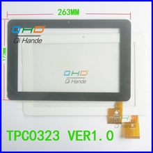 1Pcs/Lot Suitable for Ampe A10 Sanei N10 263*173mm TPC0323 VER1.0 touch screen handwriting screen digitizer panel Replacement(China)