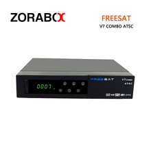 5pc Set Top Box Freesat V7 combo ATSC DVB-S2+ATSC 1080P Full HD Satellite Receiver Cccam Newcam Bisskey Youtube Youporn Powervu