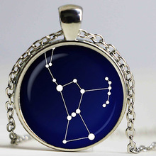 Orion Constellation glass pendant. Night sky necklace. Stars, astronomy, space jewelry, glass cabochon pendant,sliver plated