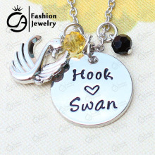 Swan and Captain Hook Swan Pendant Necklace Christmas Gift Jewelry  #LN1246