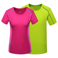 Summer Outdoor Men Women Sport Quick Dry T-Shirts Camping Hiking Solid T Shirts Breathable Running Climbing Short Sleeve Shirts(China)