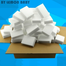 100pcs/lot White Magic Sponge Eraser Melamine Cleaner Eco-Friendly Kitchen Car Washing Cleaning Sponges 10x6x1.5cm XHH8034