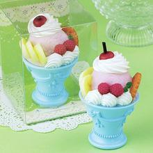 [1 pc] children party supplies birthday gift idea birthday candles ice cream candle kid birthday handmade smokeless candles