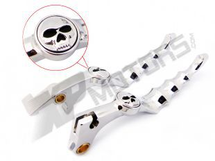 Unbreakable CHROME  SKULL ZOMBIE BRAKE CLUTCH LEVER Fit For  Honda Shadow 600 1988 90 91 92 93 94 95 96 97 98 99 2000 - 2010<br><br>Aliexpress