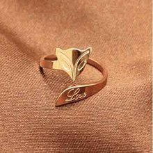 HOT SALE Rose Gold Silver Plated Fox Ring For Women High Purity Metal Materials Fashion