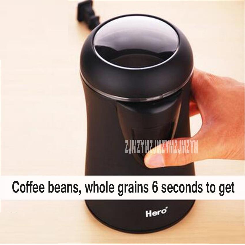 HERO Stainless Steel Blades Grinders Machine Electric Coffee Bean Grinder Household Small Crusher Stainless Steel Coffee Machine<br>