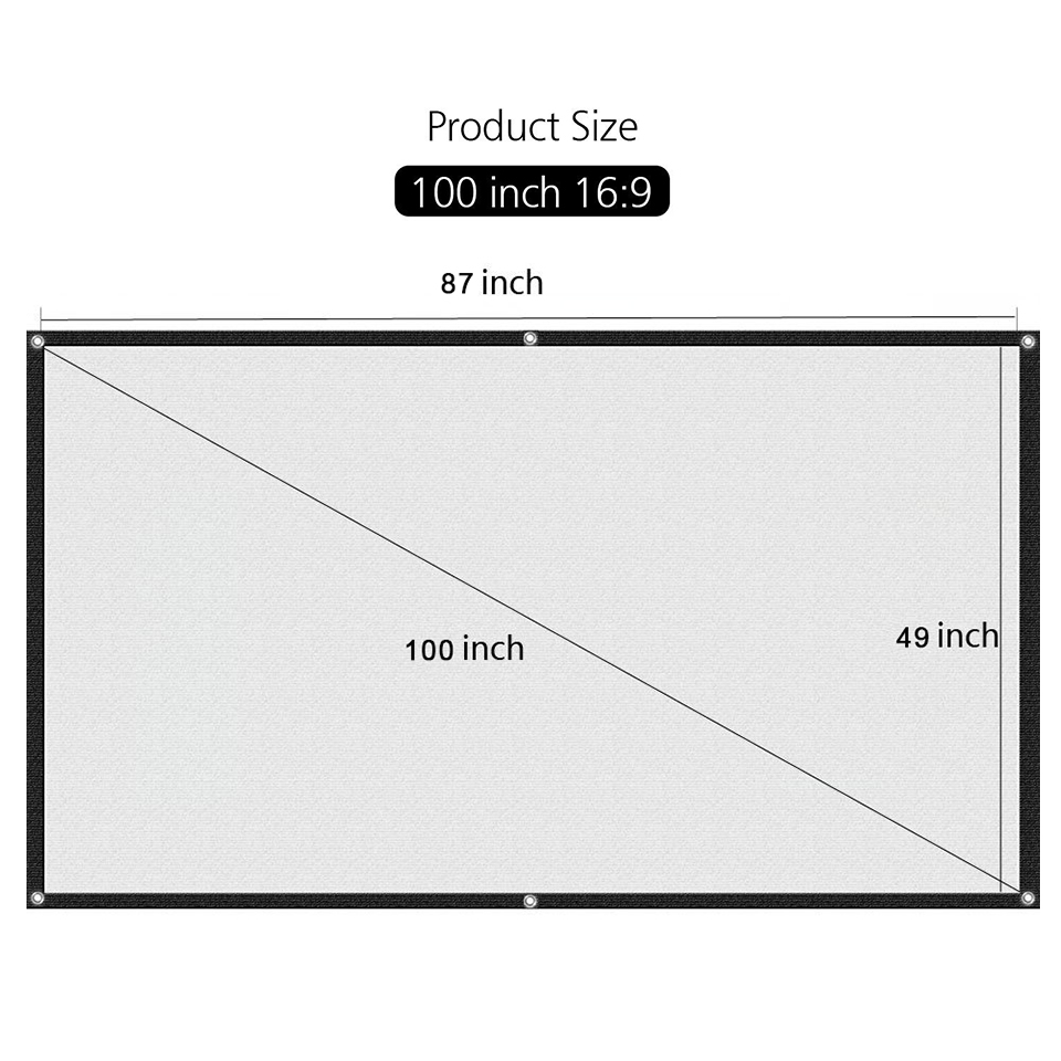 100 Inch Simple Projector Screen-1