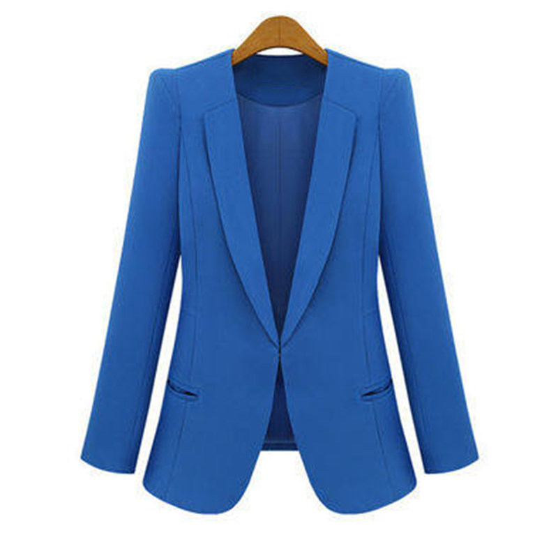 2017 Spring and Autumn Korean women\`s Slim was thin suits female jacket in the long paragraph leisure large size lady suit suit (14)