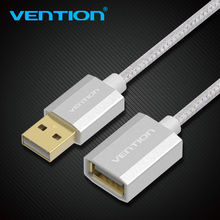 Vention USB Extension Cable Male to Female High Speed USB Cable Extension For PC Keyboard Printer Mouse Computer Cotton Braided(China)