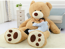 2016 High quality 260cm Huge Smiling Bear Toy Large Stuffed Soft Plush Teddy Bears Doll(China)