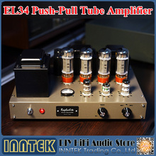 Raphaelite DPK34 EL34 Push-pull Tube Amplifier Hi-End HIFI Power Amplifier / With Tube(China)