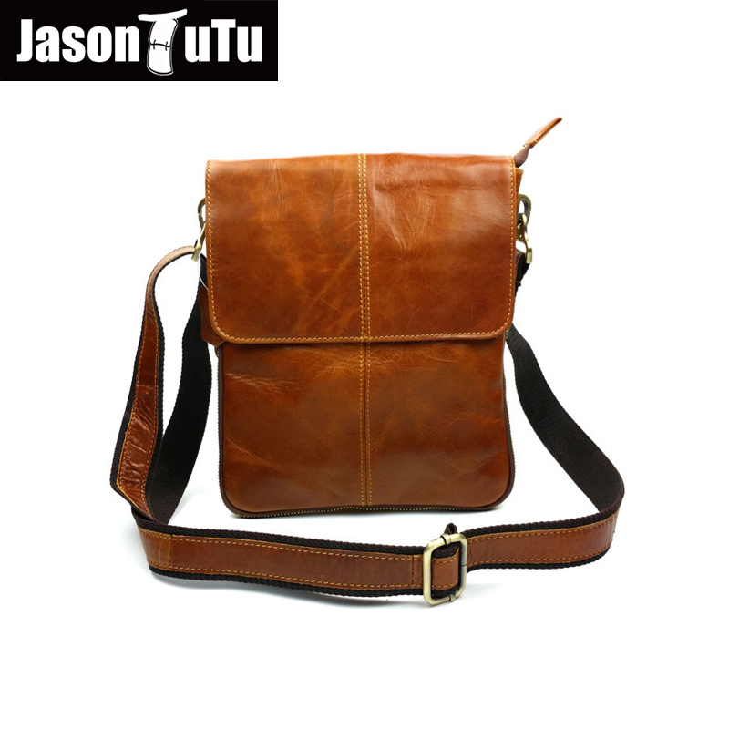 Genuine Leather Men Bag Cowhide Leather Shoulder Bag Fashion Men Crossbody Messenger Bags Casual Male Small Bags Flap HN247<br>