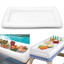 Inflatable Serving Bar Salad Buffet Ice Cooler Picnic Drink Table Party Camping 134*64cm(China)
