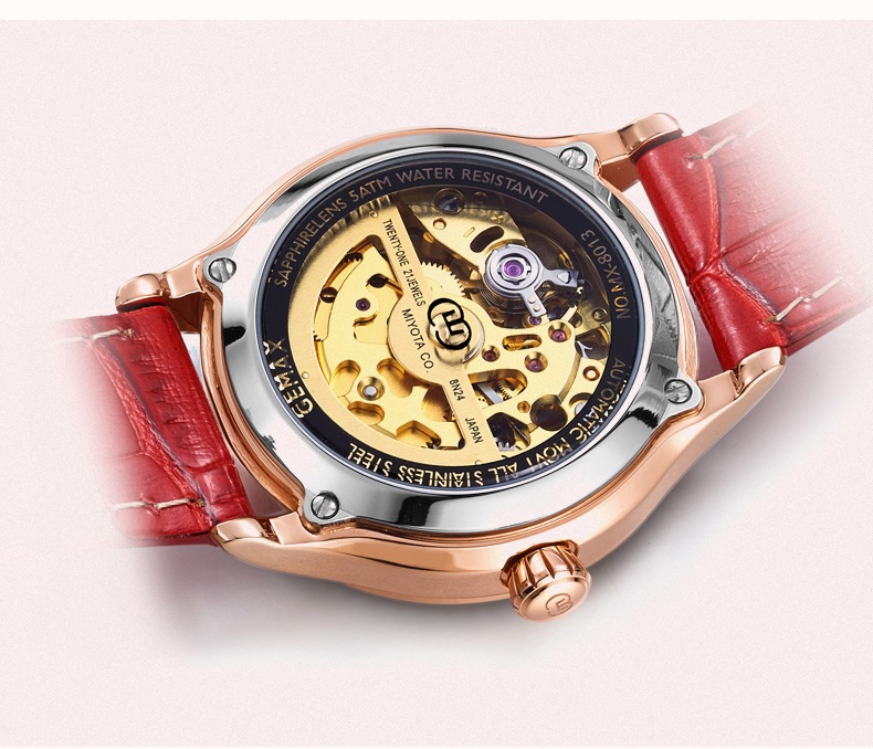 GUANQIN Watch Women Luxury Automatic Watches LOVE Shape MIYOTA Mechanical Movement Purple Sapphire 50 m Waterproof Leather Clock (12)