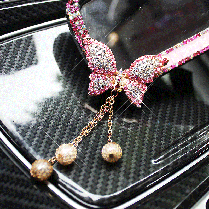 Car-Interior-Mirror-Crystal-Decoration-Diamond-Butterfly-Rearview-Mirror-Bling-for-Girls-Woman-2