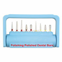 1Set Dental Lab Materials Diamond Burs Polishing Polished Dental Burs Holder Block High Speed Handpiece Dentist Products(China)