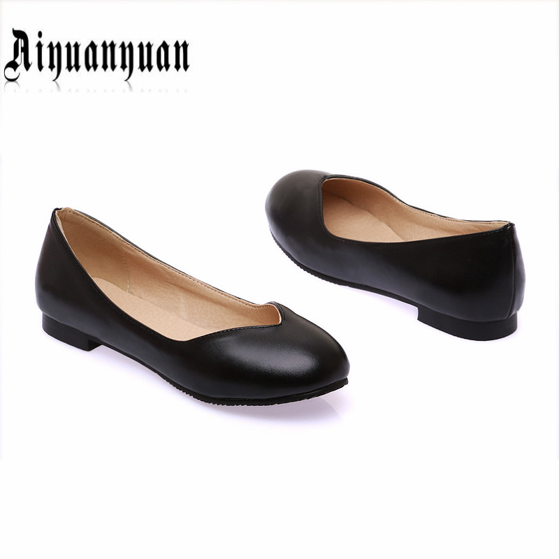 2017 new arrival plus size 40 41 42 43 44 45 46 47 ladies flats sweet women shoes slip-on design high quality PU free shipping<br><br>Aliexpress