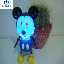U-EASY Mickey Mouse Cute Night Light for Baby Indoor Security Light Desk Decoration Lamp RGB Battery Includ LED Lights