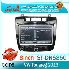 ForLSQ star car audio gps dvd for 2013 VW touareg with dual core CPU IPAS OPS A/C status show mobile phone mirroring hot selling