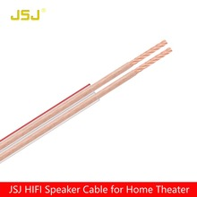 JSJ 15GA 400 Strands 2*1.57mm DIY HIFI OFC Transparent Loud Speaker Wire Cable for Home theater DJ System car stereo high end(China)