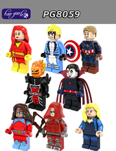 Hao Gao Le 60sets Super Heroes Red Arrow Dormammu Cannonball Dark Phoenix Black Canary Atom Figure Building Blocks Toys PG8059