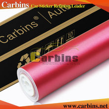 Carbins brushed vinyl wrap matte chrome metal car sticker Rose color 5*65.6ft roll size, fast delivery!