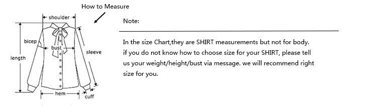 women shirt size