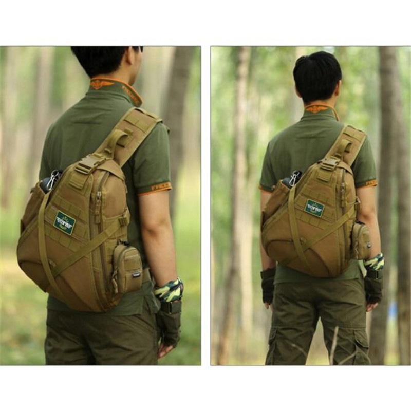 Mens bags large capacity one shoulder backpack chest package 14 inch laptop bag  mountaineering bag, travel bag<br>