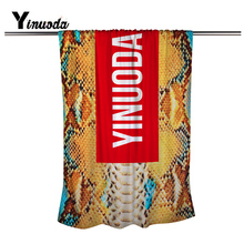 Factroy Outlets Yinuoda Brand towel 80*160 CM Summer Beach Extended Beach towel Snakeskin art style decorative towels