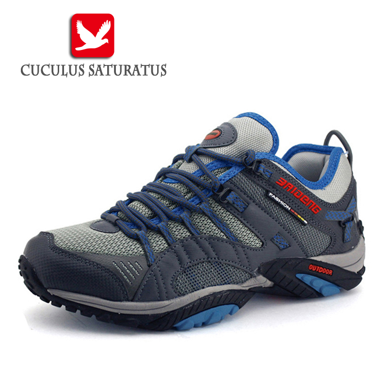 Surface Waterproof Hiking Shoes Men Sneakers 2017 Leather Outdoor Shoes Mens Sport Trekking Walking Shoes 8036<br>