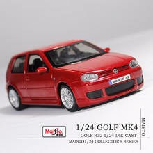 Free Shipping VW Golf MK4 R32 Red Die Cast Model Car Maisto 1/24