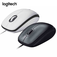 Original Logitech M100R Wired Optical Gaming Mouse Rechargeable Ergonomic Computer Mice Both Hands 1000 DPI For Laptop Desktop