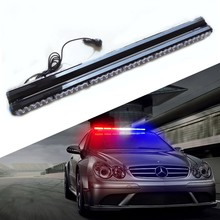 "35"" 72 LED Car Emergency light double sided 360 degree flashing strobe Truck warning hazard flasher Police Fireman Caution lamps"