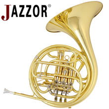 JAZZOR E130G 4-key Double French Horn Entry Model, Bb/F Wind Instruments French Horns with mouthpiece Free Shipping