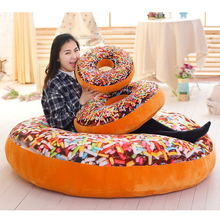 Chocolate Donuts Cushion Car Mats Christmas Presents Creative Super Soft Sofa  Pillow Seat Donuts Pillows Kids Toy Cushions 408