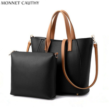 MONNET CAUTHY New Arrival Women's Bags Solid Color Black Khaki Hot Pink Wine Red Totes Concise Casual Lady Fashion Composite Bag
