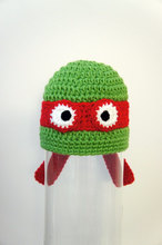 free shipping,New Handmade Teenage Mutant Ninja Turtles hat,Baby Knit Crochet Animal Hat Newborn Photo Prop 0-5years 100% cotton(China)