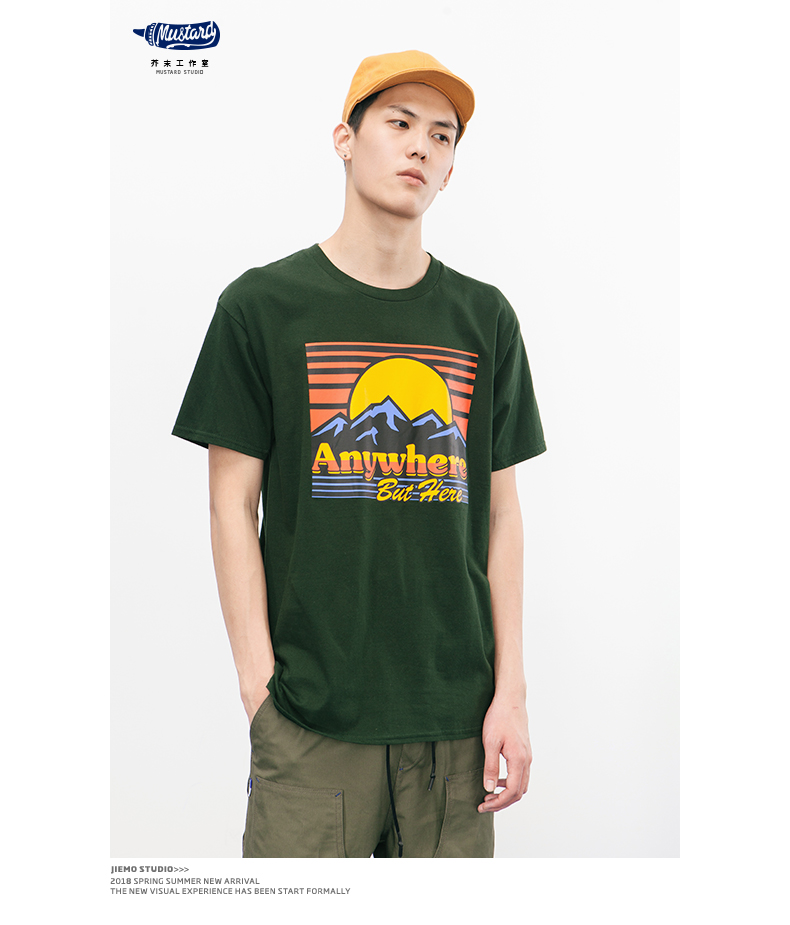 SODA 2018 Marque Vêtements 100% Coton Manches Courtes T-shirts 15