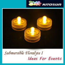 12pcs/set Free shpping! Small Water one bulb Submersible Led Floating Tea Light Battery Mini LED